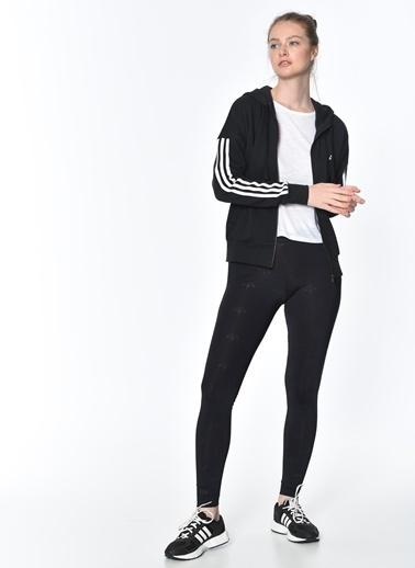 adidas Kapüşonlu Fermuarlı Sweatshirt Siyah